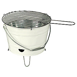 Tesco Small Charcoal Bucket BBQ, Cream