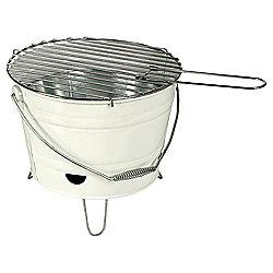 Tesco Small Charcoal Bucket BBQ, Cream