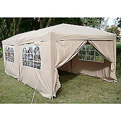 Airwave Pop Up Gazebo Fully Waterproof 6x3m in Beige