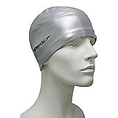 Speedo Pace Senior Lycra Swimming Cap - Silver