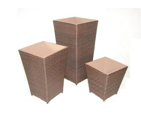 Royal Craft Cannes Planter Set - Brown