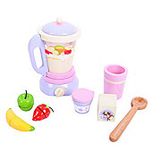 Bigjigs Toys BJ397 Wooden Play Food Candy Floss Smoothie Mixer Set