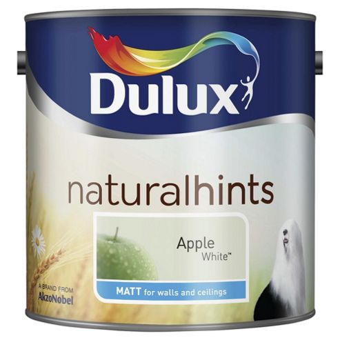 Dulux Matt Emulsion Paint, Apple White, 2.5L