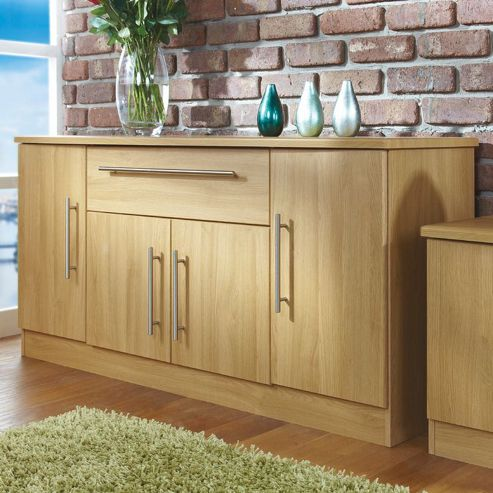 Welcome Furniture Living Room Wide 4 Door / 1Drawer Unit - Modern Oak