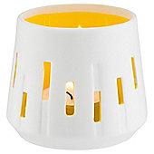 Tesco Ceramic Cut Out Tealight, Yellow