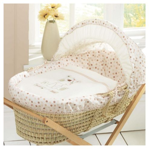 Lollipop Lane Button Hole Bear Moses Basket