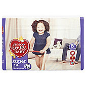 Tesco Loves Baby Super Fit Size 5+ Jnr Econ Pk 34