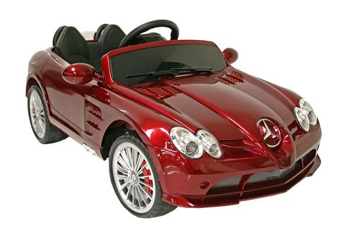 buy kids electric car mercedes benz slr 722s 12 volt red