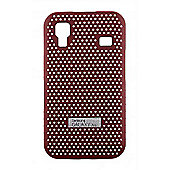 Galaxy Ace Red Metal Look Cool Case