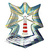 Iron Stop Designer Lighthouse Wind Spinner 6.5in Garden Feature