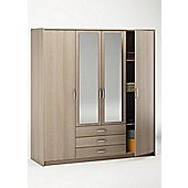 Altruna Elmont 4 Door Combination Wardrobe