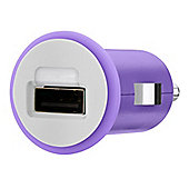 Belkin MixIt Range Micro Car Charger USB 1 Amp in Purple