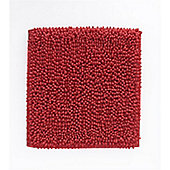 Catherine Lansfield Microfibre Chenille Shower Mat - Red