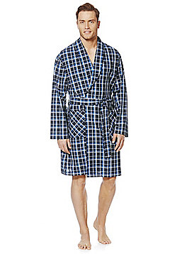 F&F Woven Dressing Gown - Blue