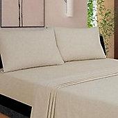 Flannelette Housewife Pillowcase (pair) - Latte
