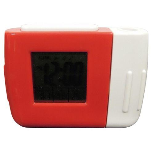 Tesco Clocks Projection Alarm Clock Red