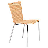 HND Metropolitan Alice Kitchen / Casual Dining Chair - Chrome - Seagrass Woven