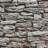 Moroccan Wall Natural Slate Stone Wallpaper - Arthouse 623000