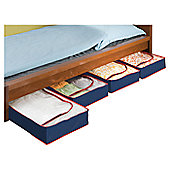 Wenko Underbed Organiser Blue-Red (Set of 4)