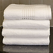 Catherine Lansfield Zero Twist White Hand Towels - Pack of 4