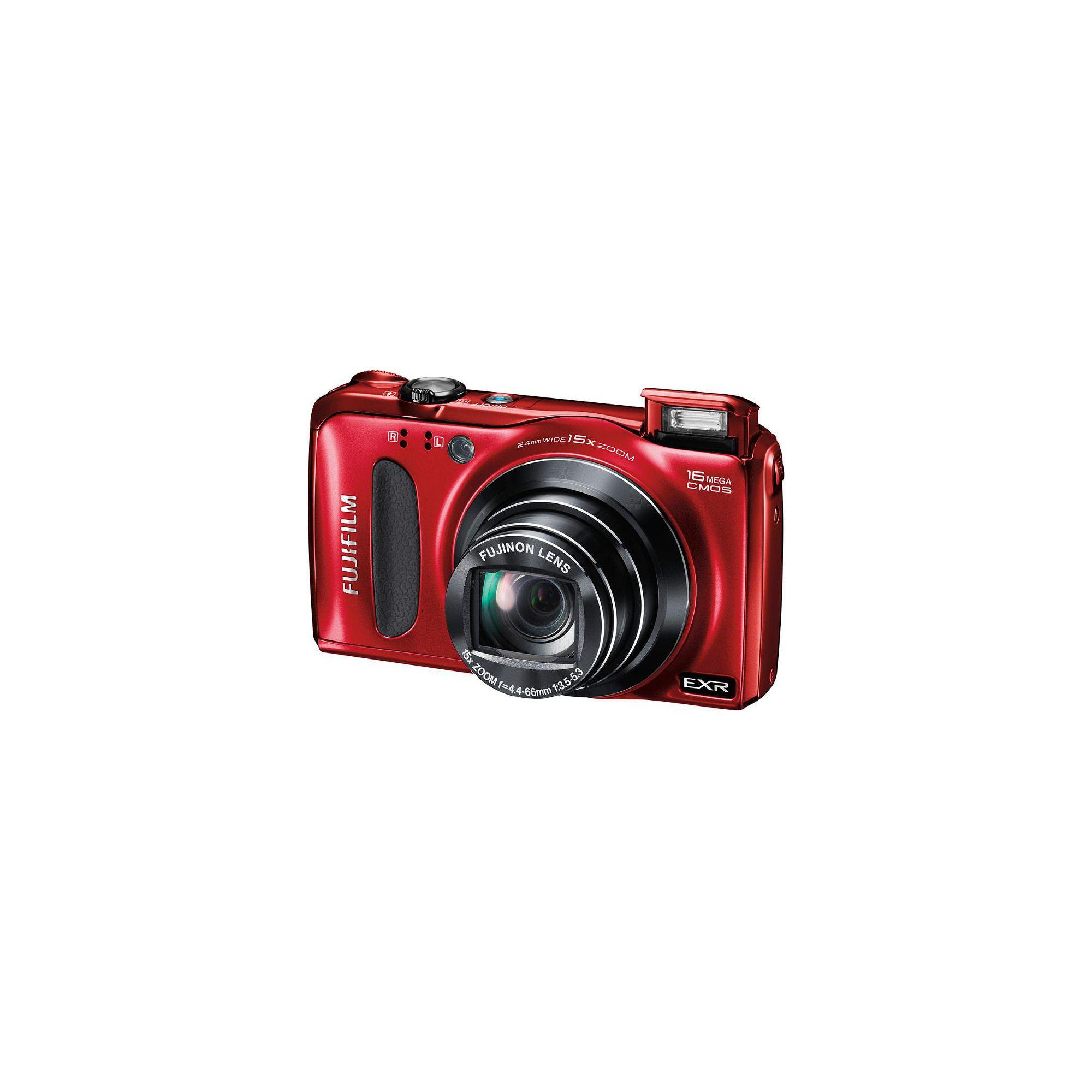 Fujifilm F660 Digital Camera, Red, 16MP, 15x Optical Zoom, 3.0 inch LCD Screen