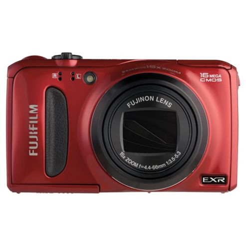 Fuji FinePix F660EXR Digital Camera, Red, 16MP, 15x Optical Zoom, 3