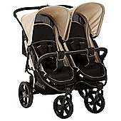 Hauck Roadster Duo SLX Double Pushchair, Caviar & Almond