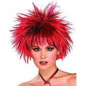 Red N' Black Spike Wig