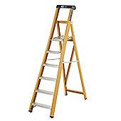 Heavy Duty 7 Tread GRP Fibreglass Platform Step Ladder (Alloy Tread)