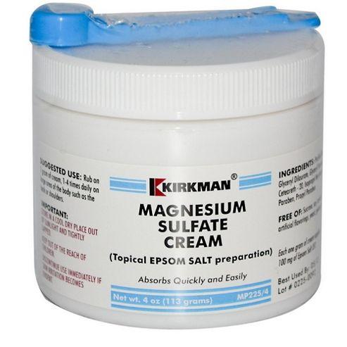 Magnesium Sulfate (Epsom Salt)Cream (113gm Cream)