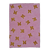 Lorena Canals Alas Wings Pink and Gold Children's Rug - 140 cm W x 200 cm D (4 ft 9 in x 6 ft 6.5 in)