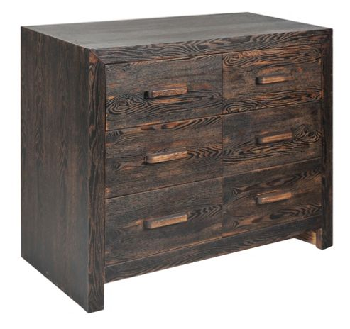 Home Essence Vintage 6 Drawer Chest - Medium (80 cm H x 90 cm W x 45 cm D)