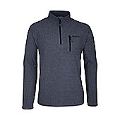 Mens Hebridean Melange Striped Walking Hiking Fleece - Grey