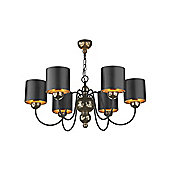 Traditional Black and Bronze Pendant Light Made in England