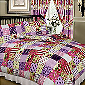 Patchwork Curtains 72s - Berry