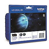 Brother LC1280XL-BK printer ink cartridge - 2 pack (Black)