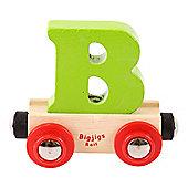 Bigjigs Rail Rail Name Letter B (Green)