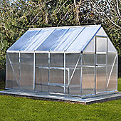 Palram Mythos 6x10 Silver Greenhouse - Polycarbonate and Aluminum Frame