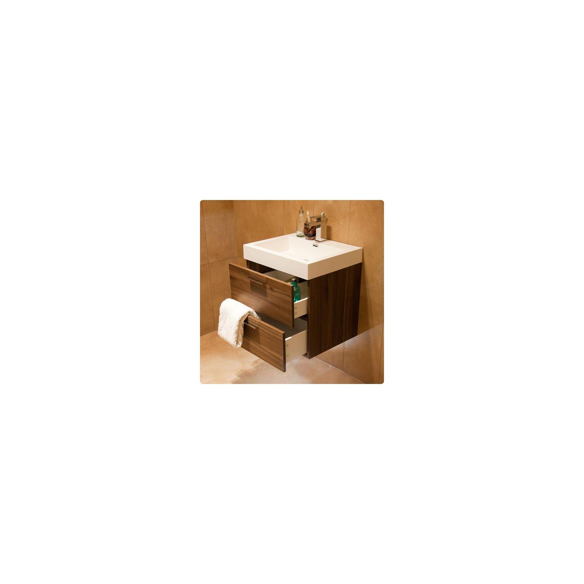 Durab Evolution Bathroom WALNUT Vanity Unit (Wall Mounted) including Basin 580mm Wide x 468mm Deep