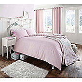 Catherine Lansfield Home Premium Pink Vintage Curtains