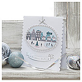 Tesco Luxury Village Scenes Christmas Cards, 6 Pack