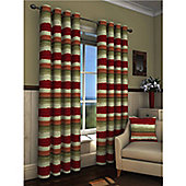 Truro Eyelet Curtains 117 x 229cm - Red