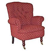 J H Classics Dorchester Armchair - Morello Terracotta Pattern