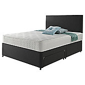 Rest Assured Memory Non Storage Super King Divan and Headboard Charcoal