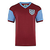 West Ham United 1958 No6 Home Shirt - Claret & Sky blue