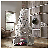 Tesco Jasper White Christmas Tree, 6ft