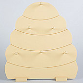 Hive - Beehive Display With 6 Hooks - Cream