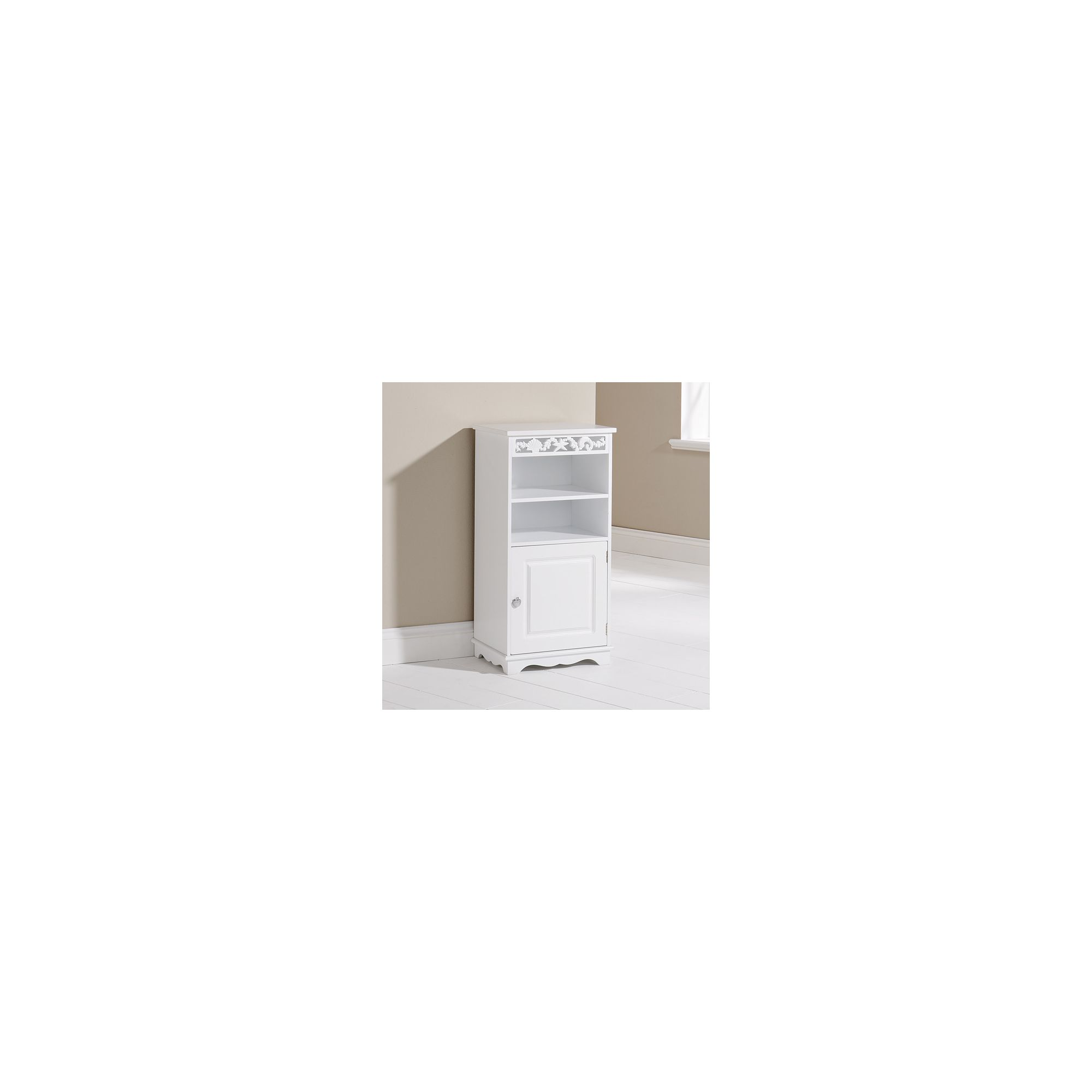 Elements Corella Floor Cupboard in White