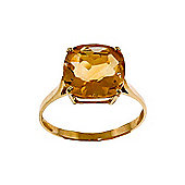 QP Jewellers 3.60ct Citrine Rococo Cushion Ring in 14K Gold