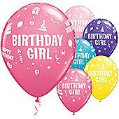 11' Birthday Girl Assortment (25pk)